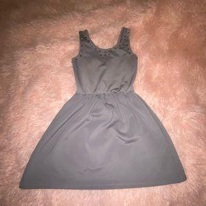 Dresses & Skirts - ❤️ 3 for $20 ❤️ Grey Studded Skater Dress